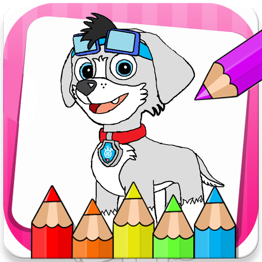 puppies Dogs Coloring Book Icon