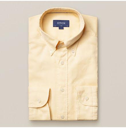 ETON Yellow royal oxford skjorta slim