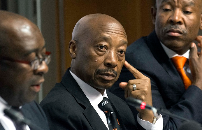 Tom Moyane, centre. Picture: TREVOR SAMSON