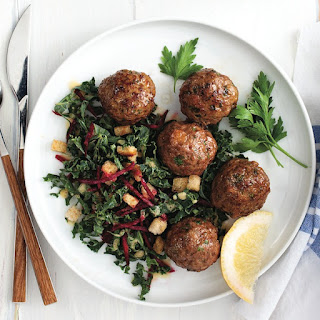 Nordic Meatballs With Beet And Kale Salad.