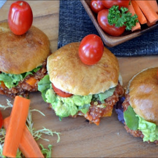 Sloppy Quinoa joe Sliders.