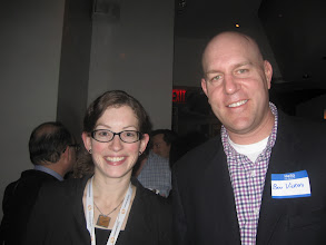 Photo: Kati Katzenmeyer and Ben Vickers of Thomson Reuters Small Law Marketing  Thanks to Thomson Reuters for giving away three free dinners