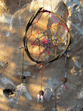Photo: dreamcatcher with local shell, lether and teeth !