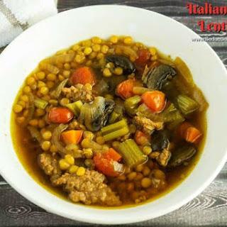 Italian Sausage Lentil Soup.