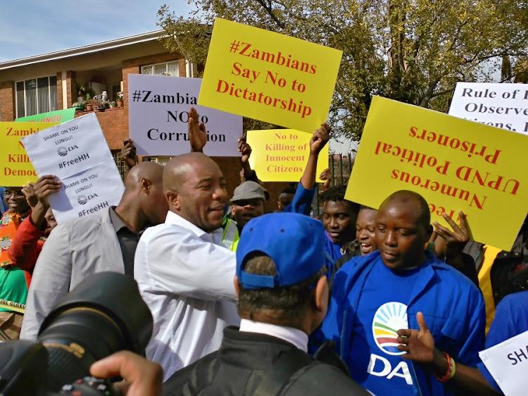 Mmusi Maimane at the Zambian High Commission in Pretoria. Picture: CLAUDI MAILOVICH