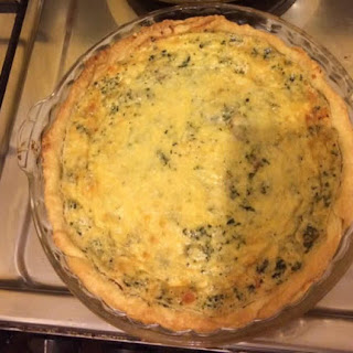 Basic Spinach Quiche.