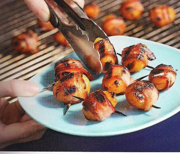 Bacon Wrapped Stuffed Apricots Recipe