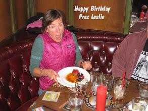Photo: Birthday girl Leslie is totally surprised!!!!