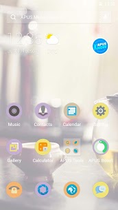 Afternoon tea time – APUS launcher theme 1