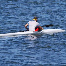 Canoeing - XIV by Joatan Berbel - Sports & Fitness Watersports ( watersports, movement, sports, canoe, colorfull )