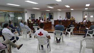 Reunión del plan de emergencias celebrada en el Ayuntamiento de Pulpí.