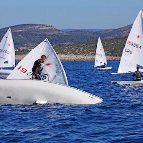 Sailing by Jaksa Kuzmicic - Sports & Fitness Watersports ( year, laser, sail, hvar, regatta )