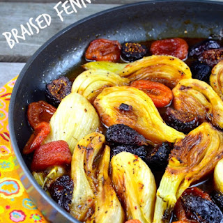 Braised Fennel with Apricots and Figs