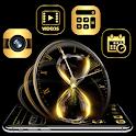 Golden Brown Black Clock Launcher Theme 🕐 icon
