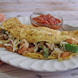 Shrimp Fajita Omelette