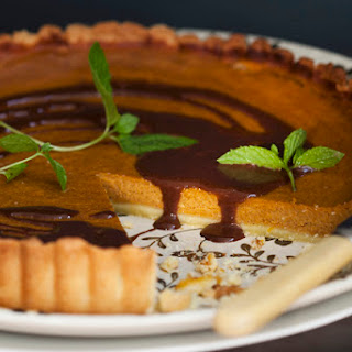 "Chocolate ""Chumpkin"" Pumpkin Pie"