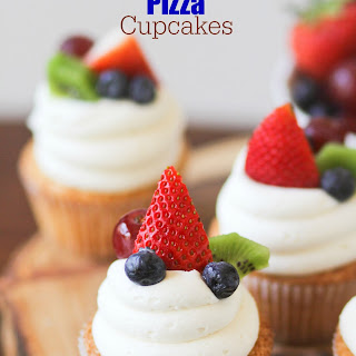 Fruit Pizza Cupcakes.