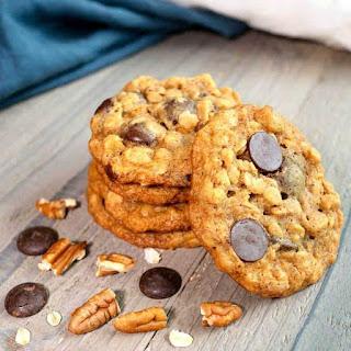 Chocolate Oatmeal Pecan Cookies.