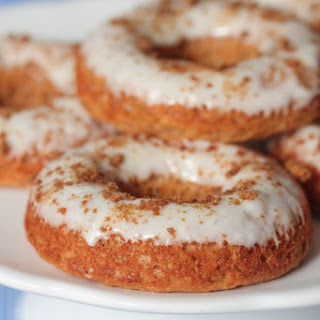 Gingerbread Baked Donuts with Gingersnap Icing.