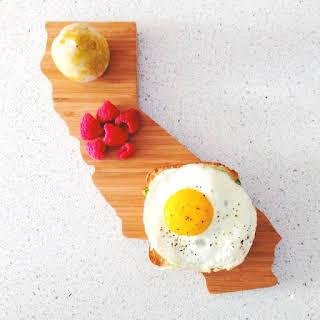 Egg, Avocado, Brie Breakfast Sandwich.
