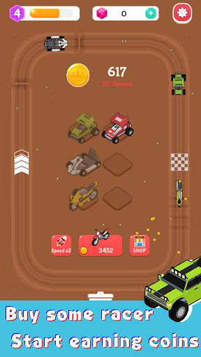 Merge Car Racer - Idle Rally Empire apktreat screenshots 2