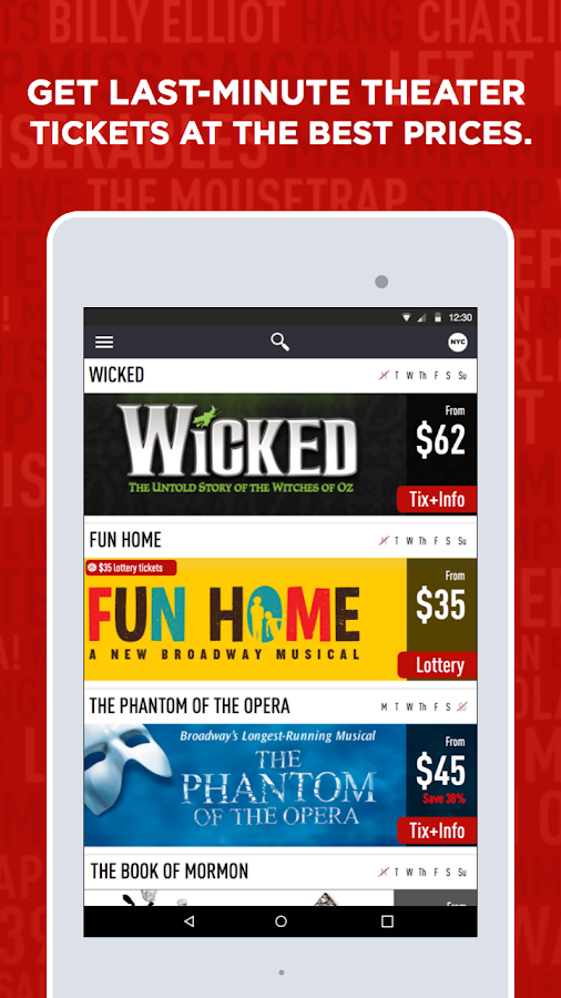 TodayTix – Theater Tickets- screenshot