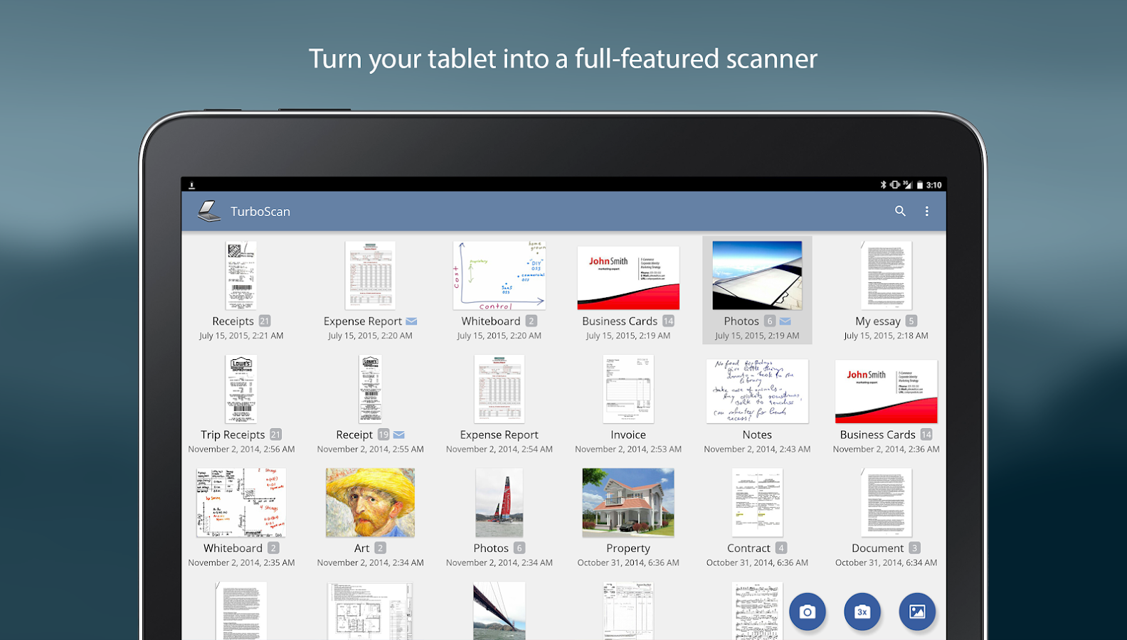 TurboScan: document scanner- screenshot