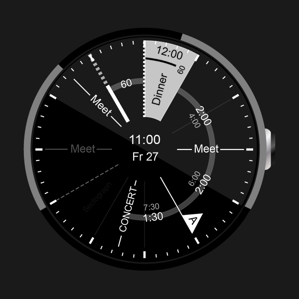 S.Graph: Calendar clock widget- screenshot