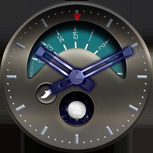 Silver moon watch