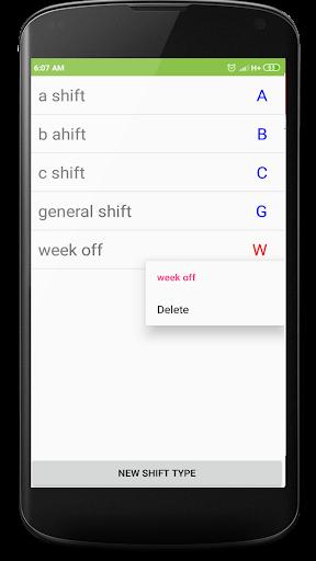 Shift duty calendar screenshot 3