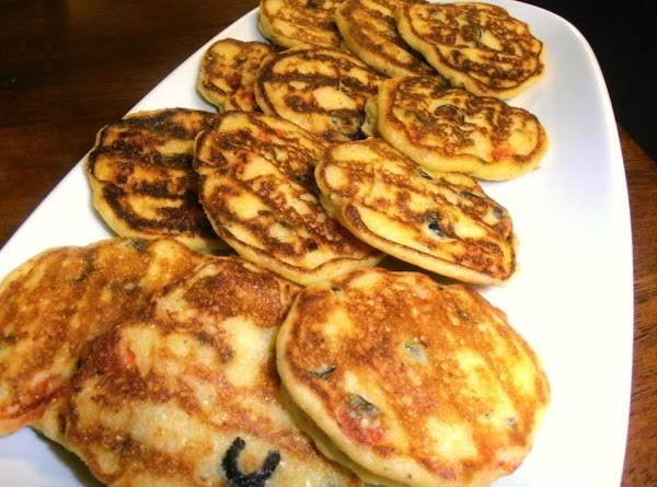 Fry cakes for about 1 ½-2 minutes or until golden brown.  Flip once...
