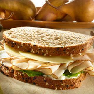 Turkey Sandwich On Whole Grain Bread.