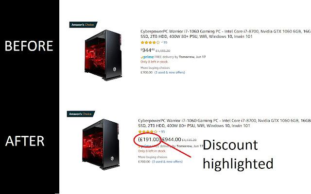 Amazon Discounts Helper