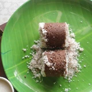 Ragi flour Puttu | Finger millet steamed cake.