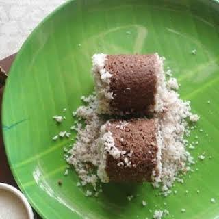Ragi flour Puttu   Finger millet steamed cake.