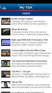 MyTSA- screenshot thumbnail