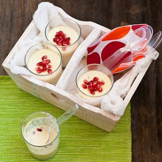 Phirni (Ground Rice Pudding) with Pomegranate Seeds and Karwa Chauth