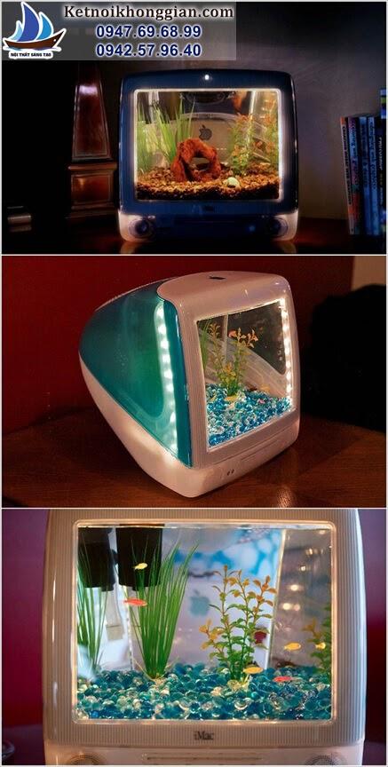 trang trí nhà hoàn hảo với bể cá mini