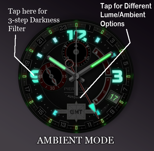 Piermont GMT Red Watchface- screenshot