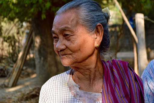 local-woman2 - A grandmother who lived her entire life in a small rural village along the Ayeyarwady.