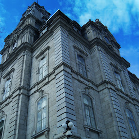Montreal  by Ellason Boyle - Buildings & Architecture Office Buildings & Hotels ( montreal, building, quebec, sky, blue, tall )