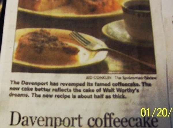 The Famous Davenport Hotel's Coffeecake  Recipe