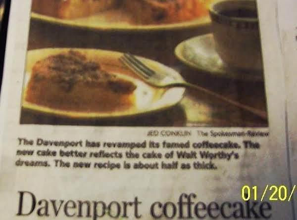 The Famous Davenport Hotel's Coffeecake  Recipe