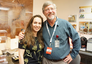 Photo: THAT. Is David Blake. We are standing in his lab. This amazing SF Bay Area man spent the last 22 years perfecting Chemistry & Mineralogy instruments, and his most state-of-the art, CheMin, is onboard Curiosity! Hometown boy on Mars! :) — at NASA Ames Research Center.