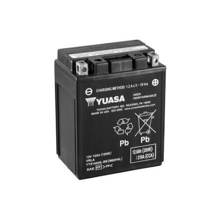 YUASA MC batteri YTX14AHL-BS LXBXH=134x89x166mm