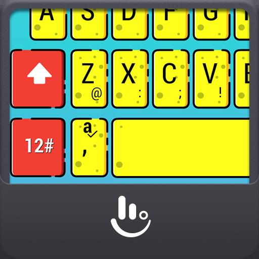 Yellow Cute Sponge Keyboard Theme