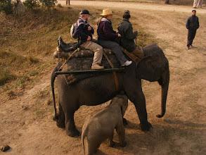 Photo: On elephant back