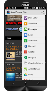 Zenfoneblog for Android- screenshot thumbnail