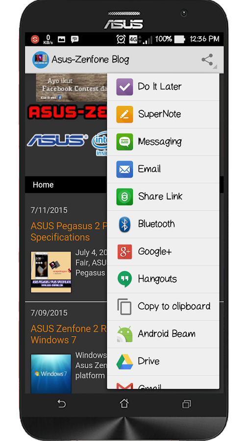 Zenfoneblog for Android- screenshot