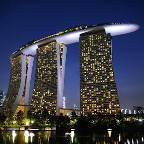 Marina Bay Sands Singapore by Lindra Hismanto - Travel Locations Landmarks ( sands, lindra, hismanto, singapore, marina bay )